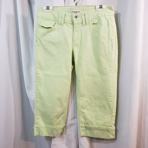 st johns bay petite 6 crop jean cropped lime NEW